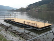 permanently installed floating platform
