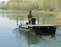 pontoon boat for water protection