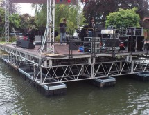 small floating lake stage