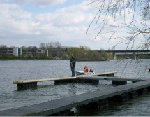 fishing dock with dock fingers