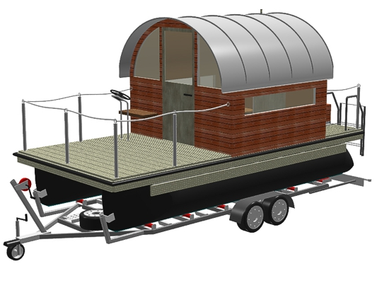 pontoon raft on trailer