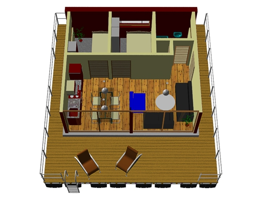 floating home PH30 - room layout