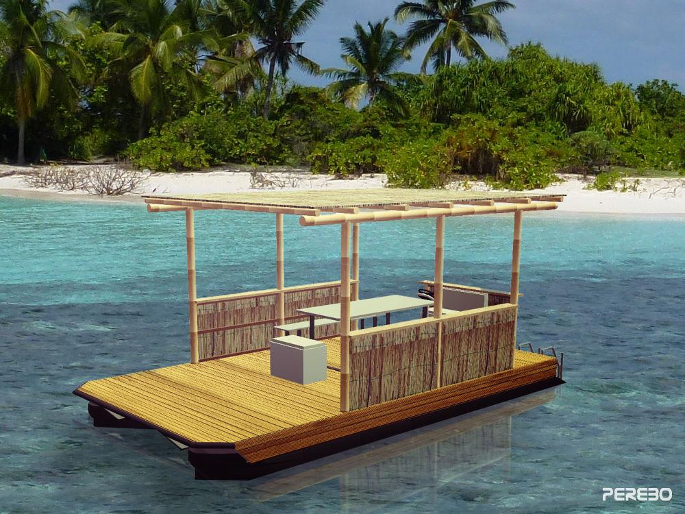 leisure raft -enjoy- front view