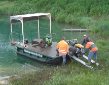 work boat for water control