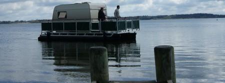 pontoon caravan