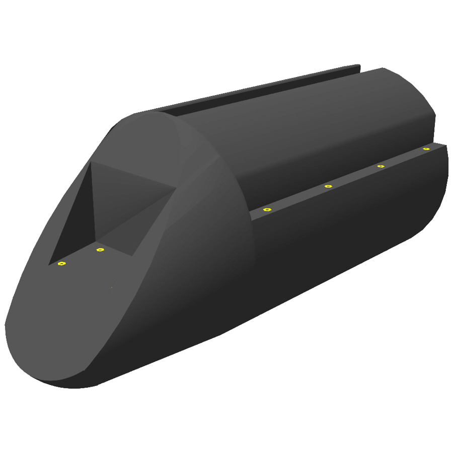 "plastic pontoon ""PT01"" end section"
