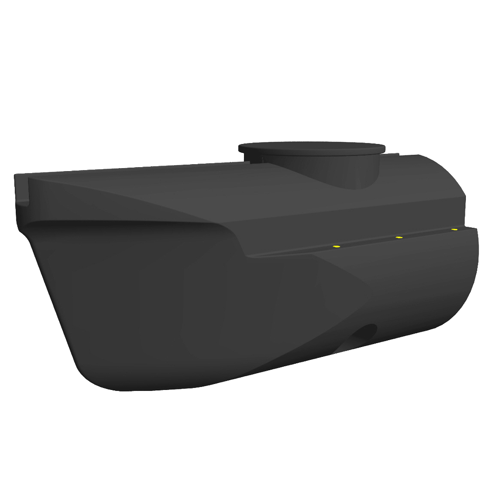 "plastic pontoon ""PT01"" front section with tunnel"