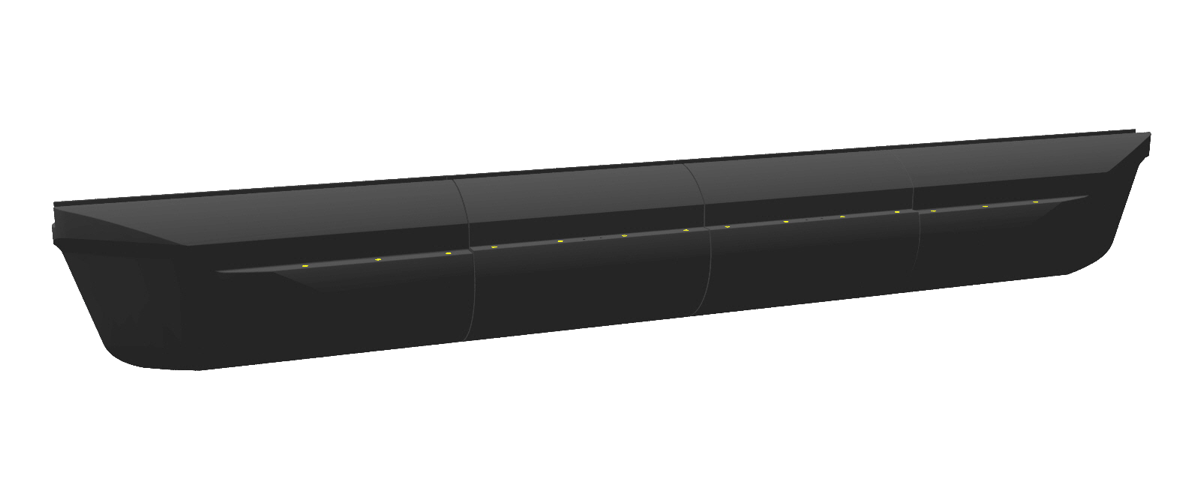 hull form 3 (1x front section + nx middle section + 1x front section)