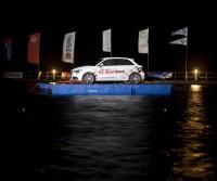 event pontoon at night