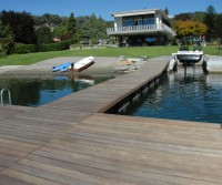 floating fishing dock