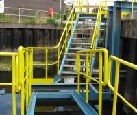 access to the pump pontoon