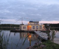 rustic houseboat