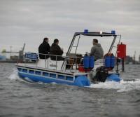 police motor catamaran