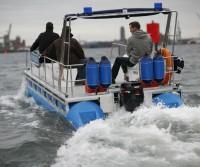 police pontoon boat