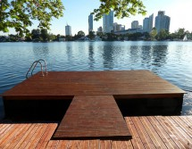 floating jetty with view to Vienna (photo: S. Lutz)
