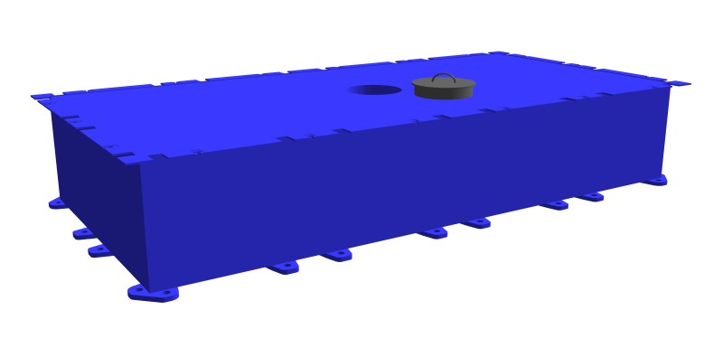 modular steel pontoon PSK-10 (with a through hole)