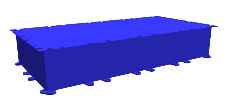 modular steel pontoon PSK-10 (standard section)
