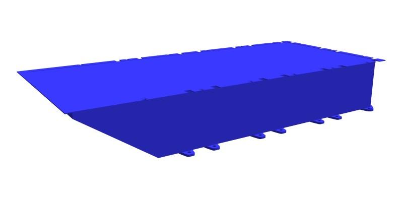 modular steel pontoon PSK-10 (end section)