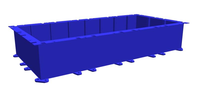 modular steel pontoon PSK-10 (as a trogh)