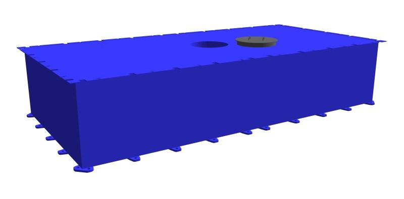 modular steel pontoon PSK-20 (with a through hole)