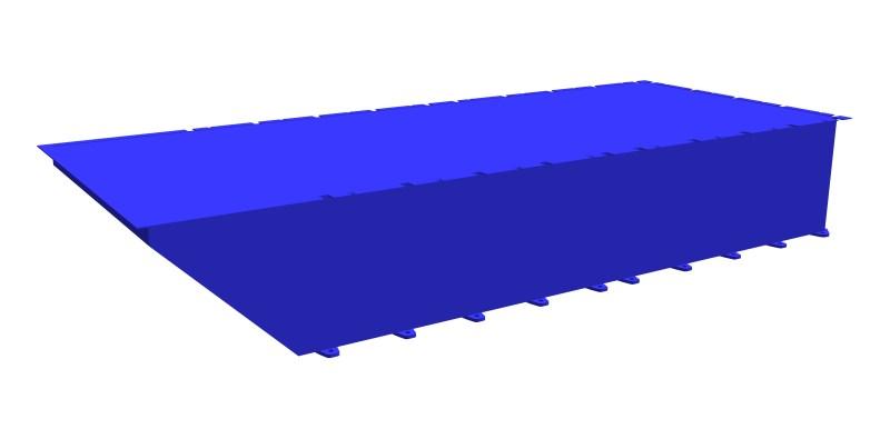 modular steel pontoon PSK-20 (end section)