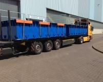 transport of the steel pontoons PSK-20
