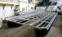 houseboat platform consist of two pontoon tubes