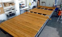 leisure boat kit - mounting of the deck flooring