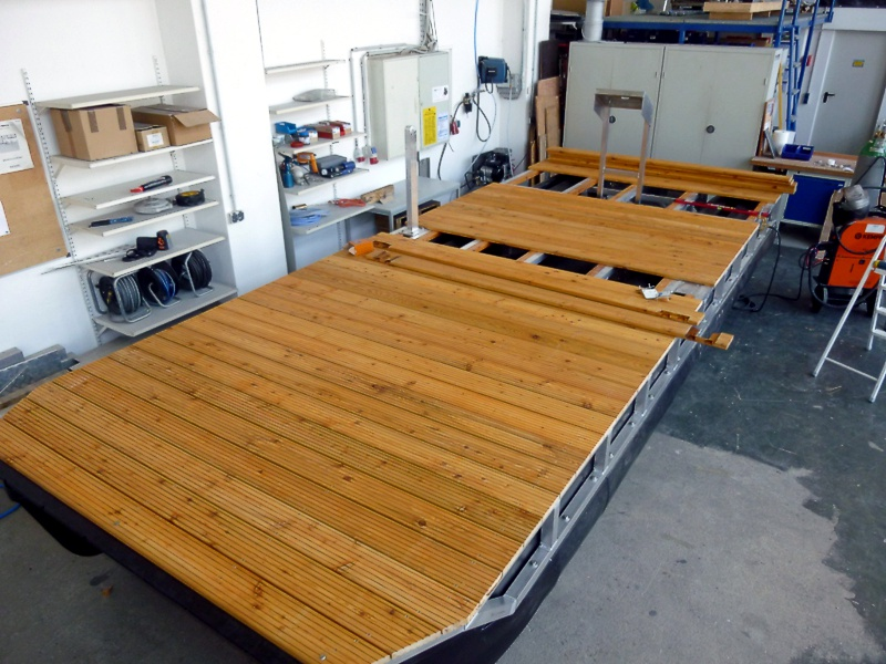 Boat kits the individual kit for your pontoon boat by perebo leisure boat kit mounting of the deck flooring solutioingenieria Image collections