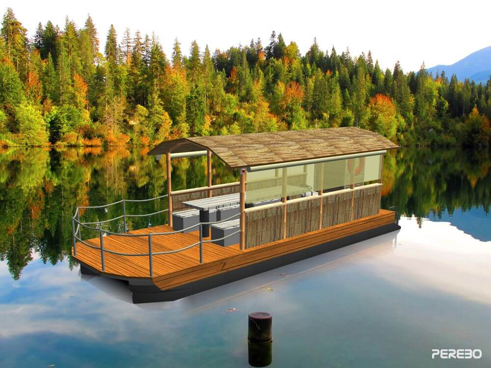 party boat -travel- front view