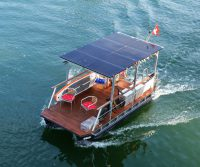 electric catamaran solar-powered