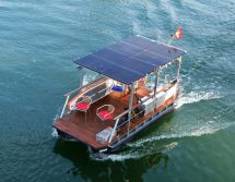 electric catamaran solar-powered