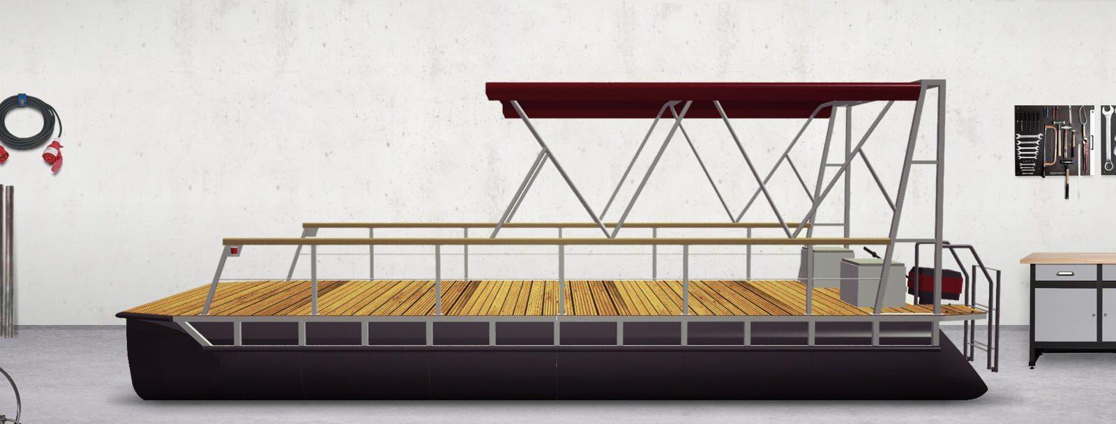 pontoon boat with bimini top