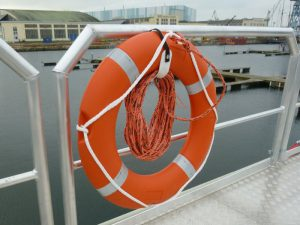 life ring attached to the railing