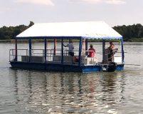 roofed transport pontoon