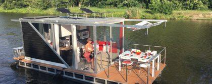 cottage houseboat