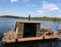 tiny sauna pontoon
