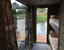floating sauna with bedroom